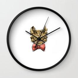 Bow Kitty Wall Clock