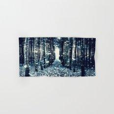 Magical Forest Teal Gray Elegance Hand & Bath Towel