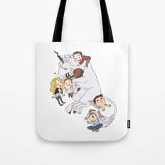 teens and wolves and unicorns Tote Bag