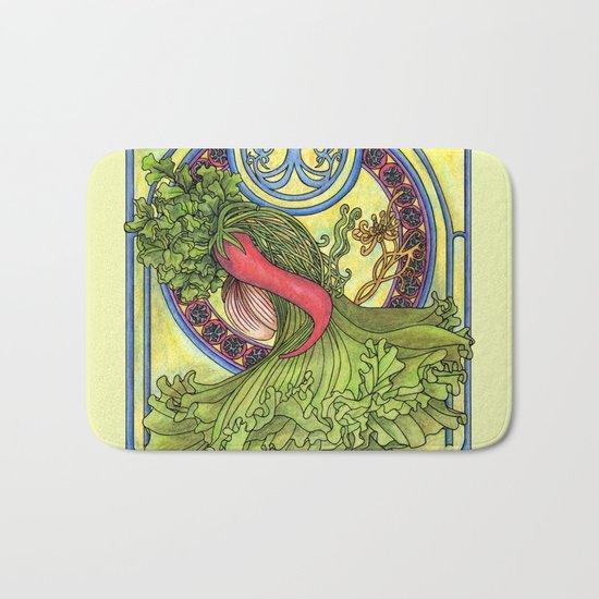 Art nouveau. Spices and vegetables Bath Mat