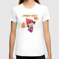 superheros T-shirts featuring Pizzagirl by Alapapaju