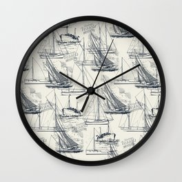 sailing the seas mode Wall Clock