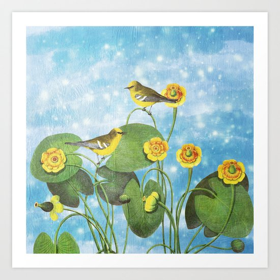 One Morning in the Water Lily Pond Art Print