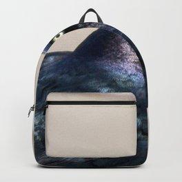 Watercolor Bird, Grackle 01, Estes Park, Colorado, The Iridescent Impersonator Backpack