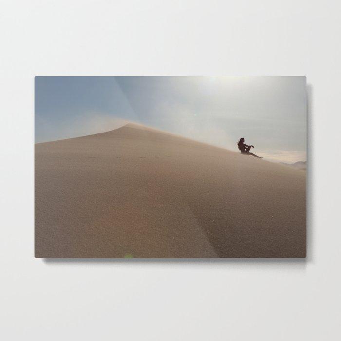 Sunset at Eureka Sand Dunes Metal Print
