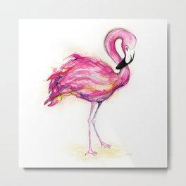Isla's Flamingo Metal Print