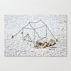 setting up camp Canvas Print