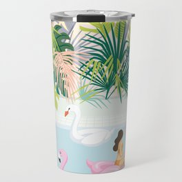 relaxing at resort Travel Mug