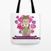 pixies Tote Bags featuring Illustrated Songs - Hey by Cristian Barbeito