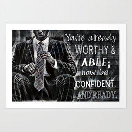Black Man Confidence Art Print