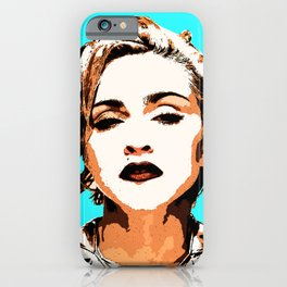Blue Madonna iPhone Case