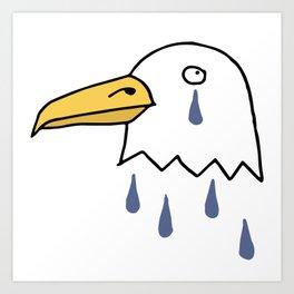 Crying Eagle Art Print