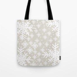 Grey Snowflake Design Tote Bag