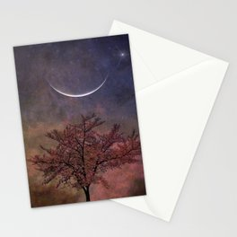 New Moon Blossoms Stationery Cards