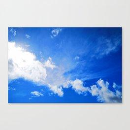 blue cloudy sky std Canvas Print