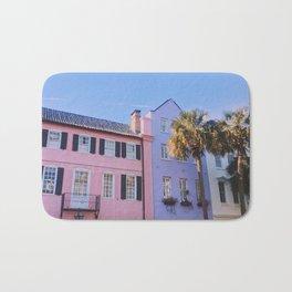 Rainbow Row in Charleston Bath Mat