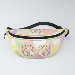 Crystal Cat - Soft Yellow Fanny Pack