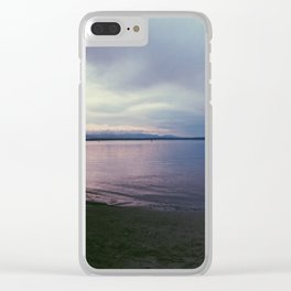 Pink Sea Clear iPhone Case