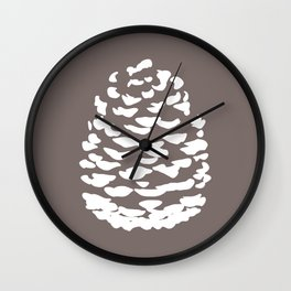 Pinecone Taupe Brown Wall Clock