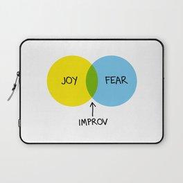 The Venn of Improv (Yellow/Blue) Laptop Sleeve