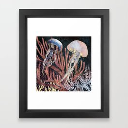 Metallic Coral Framed Art Print