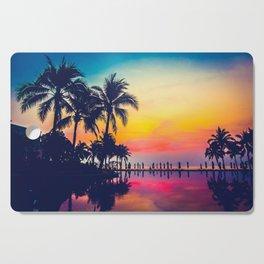 Miami sunset Cutting Board