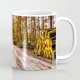 Poltery Site (Wood Storage Area) After Storm Victoria Möhne Forest 5 bright Coffee Mug