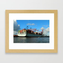 Cosco Cotainer Ship Framed Art Print