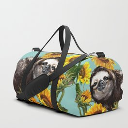 Sloth with Sunflowers Duffle Bag