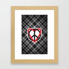 Peace Plaid Framed Art Print