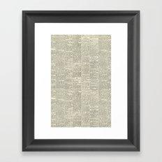 Newsie Framed Art Print
