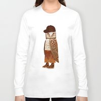 hip hop Long Sleeve T-shirts featuring Hip Hop Owl by Santiago Uceda