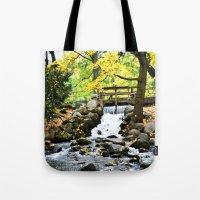 waterfall Tote Bags featuring Waterfall by Juliana RW