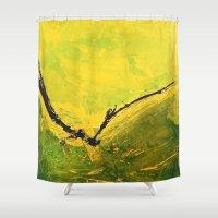 flight Shower Curtains featuring Flight by RvHART