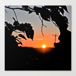 Sunset Borders Canvas Print