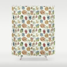 Bird Boxes Shower Curtain