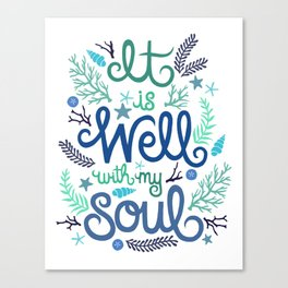 'It is Well with my Soul' Illustration.  Canvas Print
