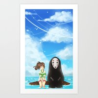 spirited away Art Prints featuring Spirited Away by Stellaris