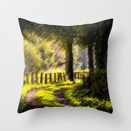 'Long Road Back Home' Landscape by Jeanpaul Ferro Throw Pillow
