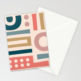 Mid Century Modern Abstract Composition 115 Stationery Cards