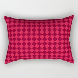 Crimson Red and Burgundy Red Diamonds Rectangular Pillow