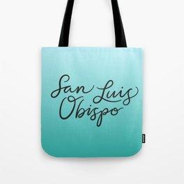 San Luis Obispo Lettering Tote Bag