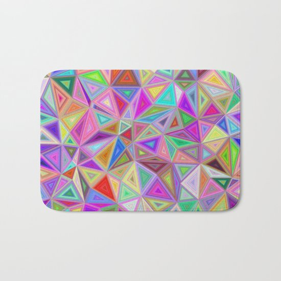 Triangular happiness Bath Mat