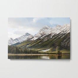 Mountains of Spray Lakes Metal Print