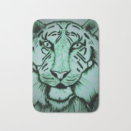 Neon Tiger Green Bath Mat