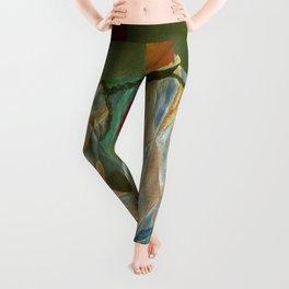 Pablo Picasso - Larlequin de Barcelone diamond-patterned costume male portrait painting  Leggings