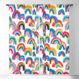 Abstract Rainbow Arcs - White Palette Blackout Curtain