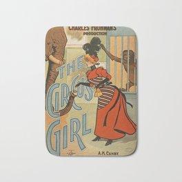 The Circus Girl vintage poster Bath Mat