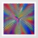 Holographic hypnotic pattern. Colorful iridescent effect. by divin