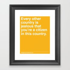 Every Other Country Framed Art Print